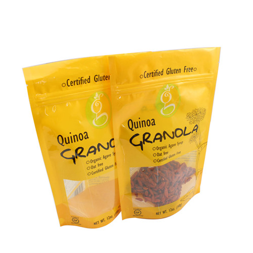 500G GRANOLA PLASTIC POUCH WITH CLEAR WINDOW