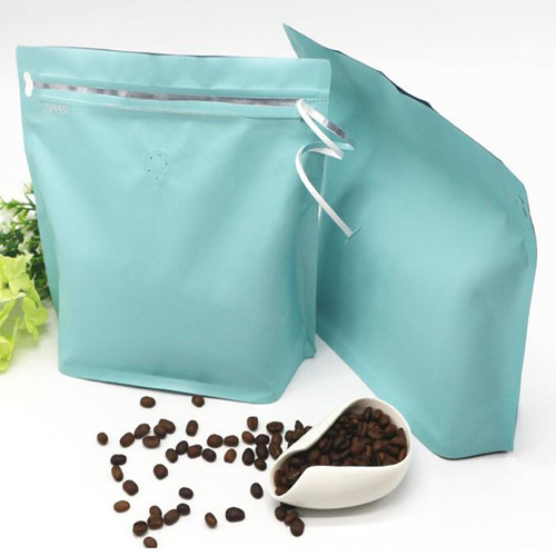 NEW DESIGN FRONT ZIPPER COFFEE STAND UP POUCH WITH VALVE