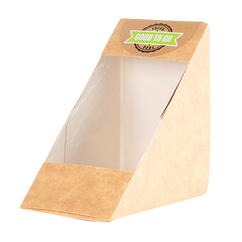 PLA COATED PAPER SANDWICH CONTAINER BOX